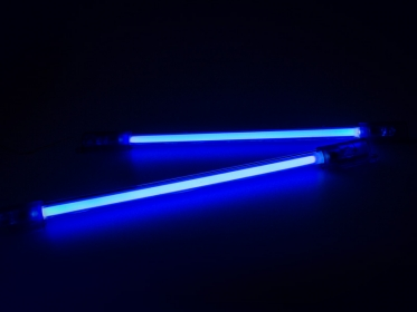 fu raumbeleuchtung 2x 20cm neonr hren blau zubeh r. Black Bedroom Furniture Sets. Home Design Ideas