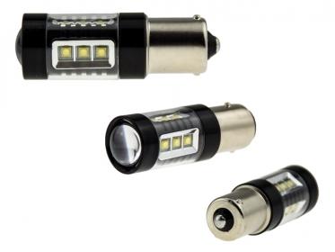 2x 80 watt led leuchtmittel ba15s p21w mit osram chip leds. Black Bedroom Furniture Sets. Home Design Ideas