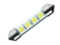 42mm 4 SMD 3Chip PLCC6 C5W LED Soffitte mit Plexiglas