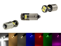 MaXtron® 4xSMD 5730 CAN-Bus LED Rund 200LM Ba9s T4W Metallsockel 12 Volt