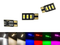 MaXtron® 3x SMD 5730 CAN-Bus LED Side 150LM w5w T10 Glassockel 12 Volt