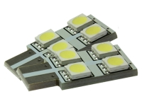 2x 4 SMD 5050 3 Chip LED Leuchtmittel SideLight 4 Farben w5w T10