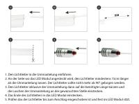 Preview: LETRONIX LED Ambientebeleuchtung *LED Serie* 12V 2 Meter Lichtleiter und Tube