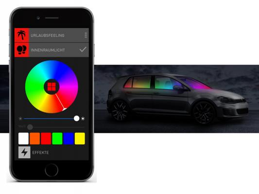BEPHOS® RGB LED Innenraumbeleuchtung Ford C-Max APP Steuerung
