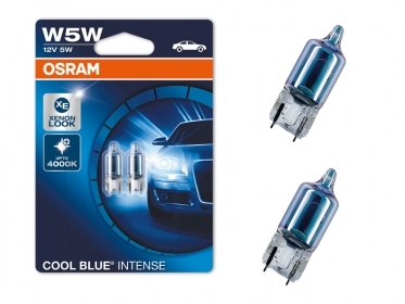 Osram W5W  Halogen Cool Blue Intense Standlicht Xenon LED Optik E-Prüfzeichen