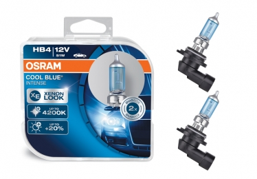OSRAM COOL BLUE Intense® Xenon LED Optik HB4 9006 Sockel 51W DuoBox (2 Stück)