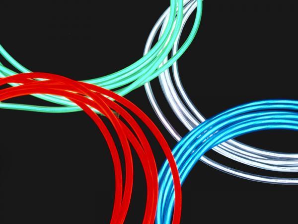 1x 150cm Leuchtdraht + Zigarettenanzünderanschluss 4 farben auswahl