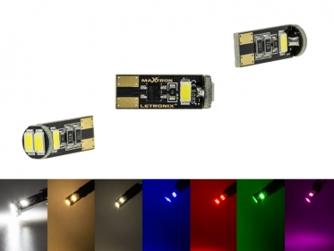 MaXtron® 4x SMD 5730 CAN-Bus LED 200LM w5w T10 Glassockel 12 Volt