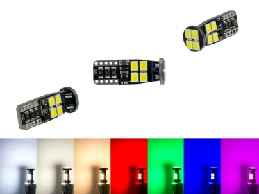 MaXlume® 12x SMD 2835 CAN-Bus LED Rund 720LM w5w T10 Glassockel 12V 24V