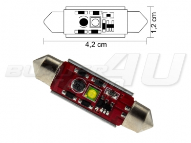 42mm 3 watt cree led soffitte c5w can bus checkcontrol. Black Bedroom Furniture Sets. Home Design Ideas