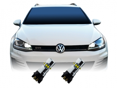 2x 50 watt cree xbd chip pw24w led tagfahrlicht vw golf 7 mit xenon. Black Bedroom Furniture Sets. Home Design Ideas
