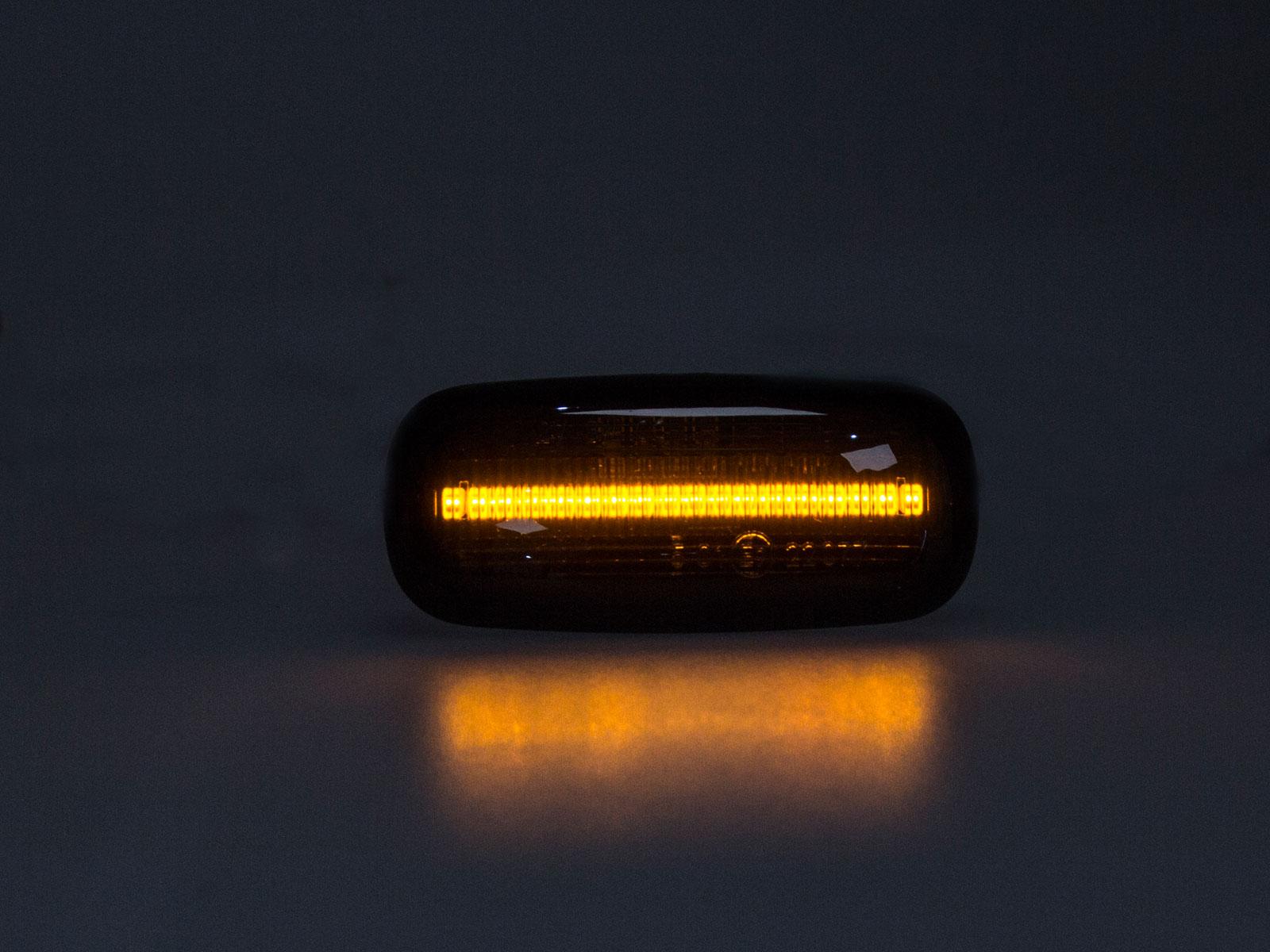 Premium 12 x LED Seitenblinker Blinker Smoke Schwarz