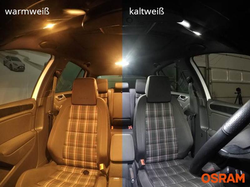 Hallenwerk von WEISSE INNENRAUMBELEUCHTUNG Set Umr/üstsatz Innenraum Beleuchtung Eine sehr exklusive KALT WEISSE Optik SkodaSuperbKombi3T5