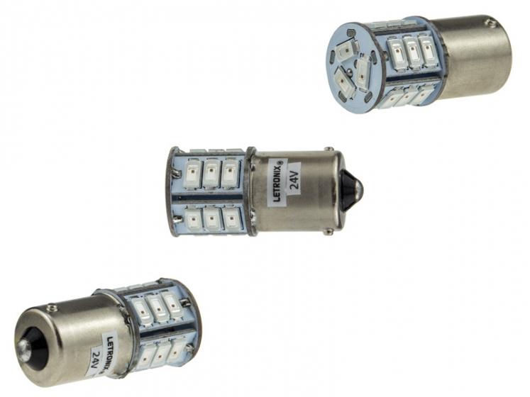 24V LEDs. LED für LKW, Boot und Wohnwagen in weiß, blau, rot und grün