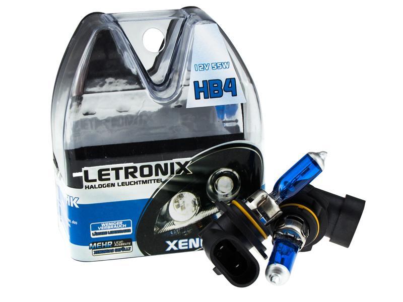 letronix hb4 9006 12v 55w halogen leuchtmittel 8500k xenon. Black Bedroom Furniture Sets. Home Design Ideas