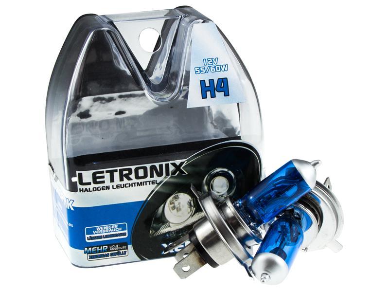 letronix h4 12v 55 65w halogen leuchtmittel 8500k xenon. Black Bedroom Furniture Sets. Home Design Ideas