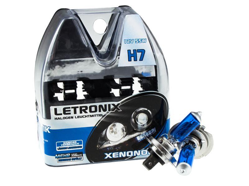 letronix h7 12v 55w halogen leuchtmittel 8500k xenon gas. Black Bedroom Furniture Sets. Home Design Ideas