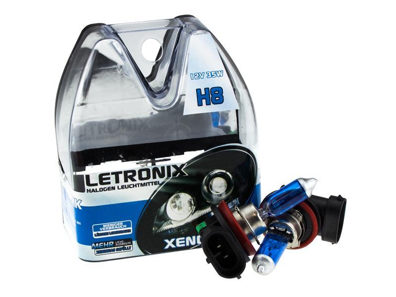 letronix h8 12v 35w halogen leuchtmittel 8500k xenon gas. Black Bedroom Furniture Sets. Home Design Ideas