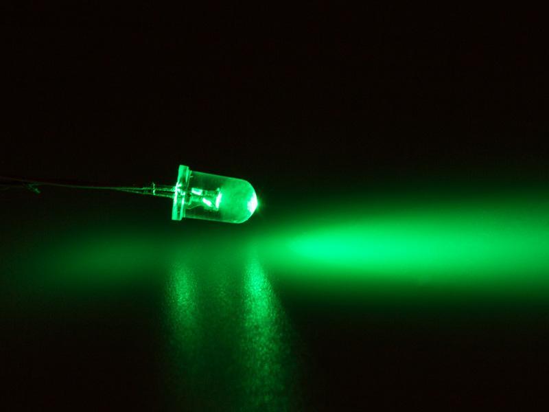 100 X  Superhelle Grüne Leds 3mm 8000mcd led Grün Green Rund