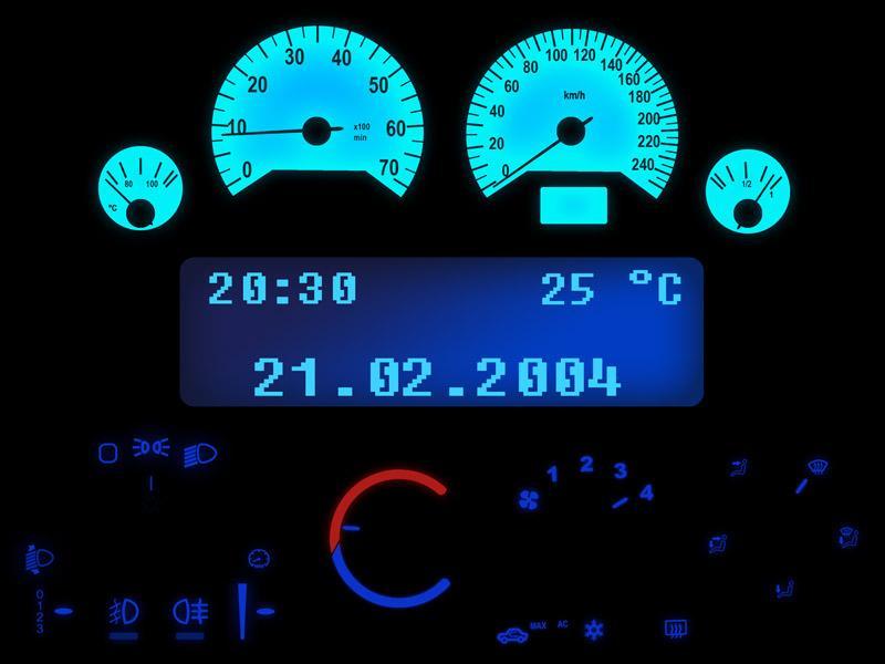 Opel Astra G LED Tachobeleuchtung Tacho Cockpitbeleuchtung weiß rot blau grün