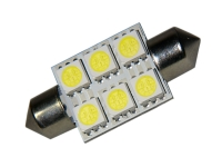 36mm LED Soffitte 6 SMD 5050 3Chip C5W Hightech